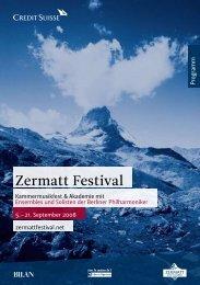 P rogramm - Zermatt Festival