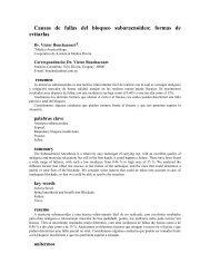 Causas de fallas del bloqueo subaracnoideo; formas de ... - SciELO