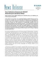 Neue Indikations-Zulassung für BOTOX : Behandlung der ...
