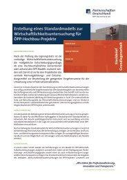 Erstellung eines Standardmodells zur ... - ÖPP Deutschland AG