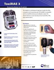 ToxiRAE 3 Personal Gas Monitor for CO & H2S - Thermo Fisher