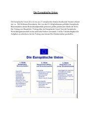 Die Europäische Union - Sw-cremer.de
