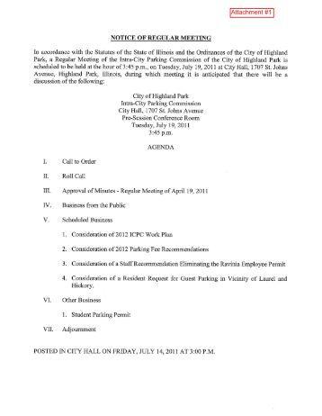07 19 11 AGENDA PACKET.pdf - Highland Park, IL - Official Website