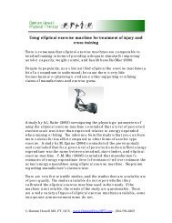 Using elliptical exercise machine for treatment of injury and cross ...