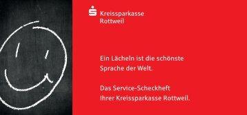 Service-Scheckheft - Kreissparkasse Rottweil