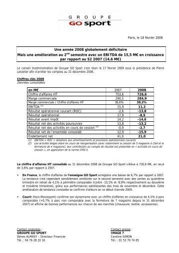 Paris, le 12 septembre 2002 - Groupe Go Sport