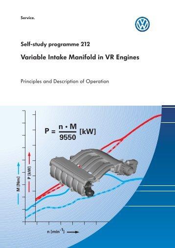 Variable Intake Manifold in VR Engines - Volkspage