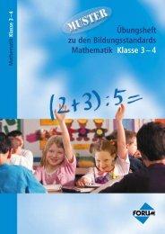 Übungsheft zu den Bildungsstandards Mathematik Klasse 3– 4 ...