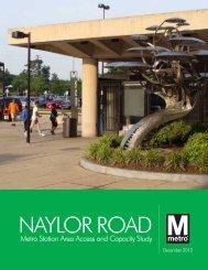 Naylor Road Metro Station Area Access and Capacity - WMATA.com.