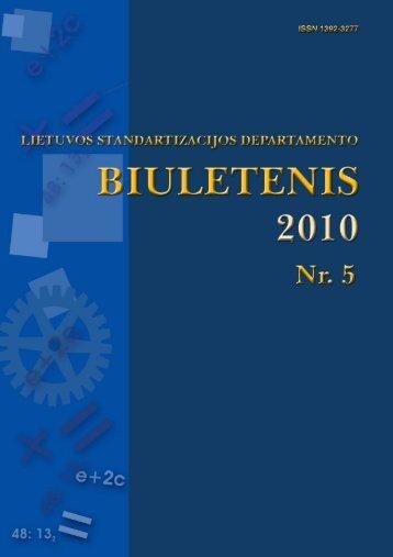 2010 Nr. 5 - Standartizacijos departamentas prie AM