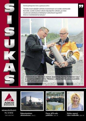 Sisukas - henkilöstölehti N:o 3/2012 - AGCO Power