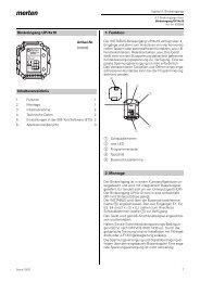 Binäreingang UP/4x10 Inhaltsverzeichnis 1. Funktion 2 ... - Avolta