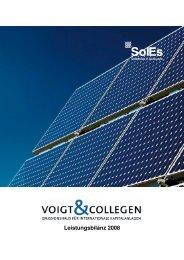 Leistungsbilanz 2008 - mit Deckblatt - Voigt & Collegen