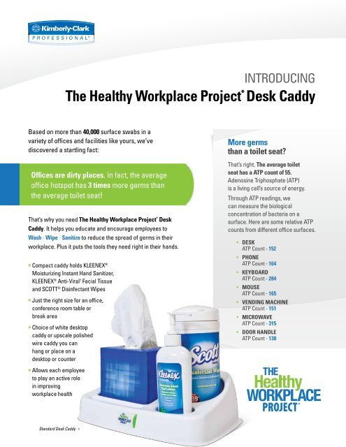 The Healthy Workplace Project Desk Caddy