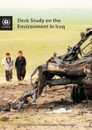 Desk Study on the Environment in Iraq Desk Study on the ... - UNEP
