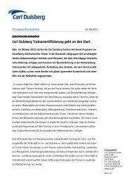 Carl Duisberg Trainerzertifizierung geht an den Start