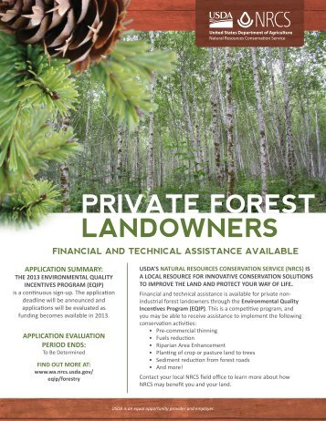 PRIVATE FOREST LANDOWNERS