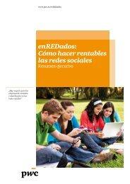 enREDados: Cómo hacer rentables las redes sociales - pwc