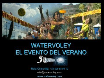WATERVOLEY EL EVENTO DEL VERANO - Tu patrocinio
