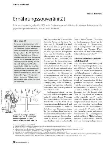 Ernährungssouveränität - Forum Umweltbildung