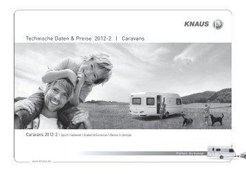 Technische Daten & Preise 2012-2 | Caravans - Knaus