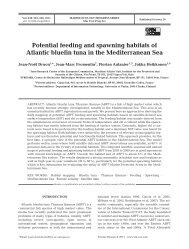 Potential feeding and spawning habitats of Atlantic bluefin tuna in ...