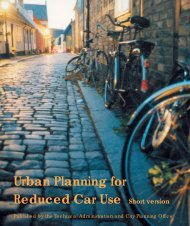 Urban Planning for Reduced Car Use