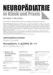 Original - Neuropädiatrie in Klinik und Praxis