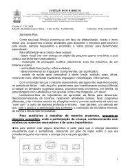 lição de férias 1 ano sugestões de jogos - Colégio Dom Barreto