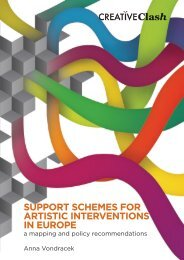 Support-schemes for artistic interventions in Europe - Creative Clash