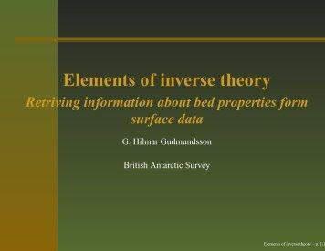 Inverse modelling