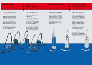 Vacuum cleaners. Upright vacuum cleaners. Strong: the right - Mopex