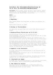 Protokoll der Pfarrgemeinderatssitzung am 30.01.2013 im Pfarrheim ...