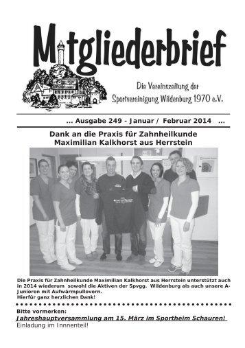 Ausgabe 249 - Januar / Februar 2014