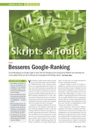 2011-01-25 PHP Journal - Besseres Google-Ranking - Cocomore