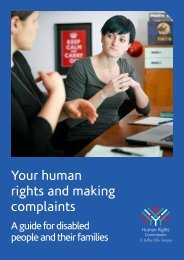 Disability complaints booklet PDF - Human Rights Commission