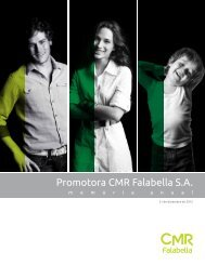 Memoria Anual 2012 - CMR Falabella