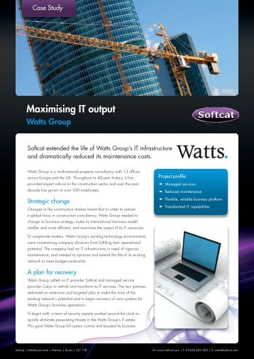 Watts Group Case Study.indd - Softcat