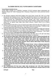 Ad Soyad: İmza: 1 BLACKBERRY BİREYSEL AKILLI ... - Turkcell
