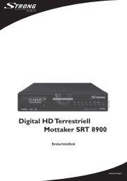 Digital HD Terrestriell Mottaker SRT 8900 - STRONG Digital TV