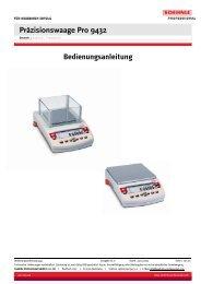 Präzisionswaage Pro 9432 - Wum-profishop.de