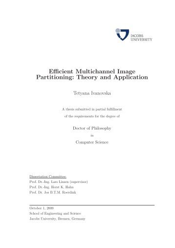 Efficient Multichannel Image Partitioning: Theory ... - Jacobs University