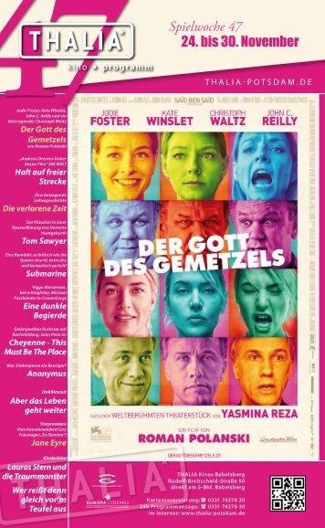 24. bis 30. November Spielwoche 47 - Thalia Kino