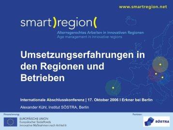 Umsetzungserfahrungen in den Regionen und ... - Smart Region