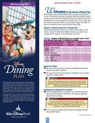 Dining Plan - Walt Disney World