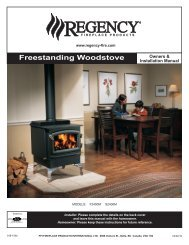 Owner & Installation Manual - Regency Fireplace Products