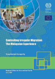 Controlling irregular migration: The Malaysian experience