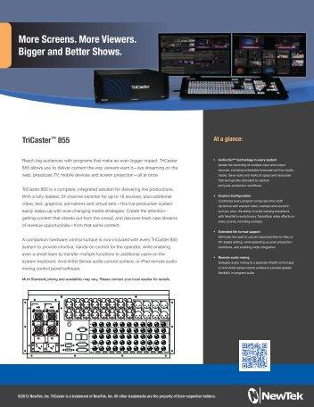 TriCaster 855 NAB - Omega Broadcast Group