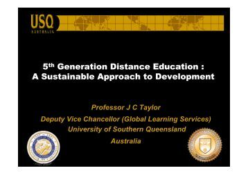 5th Generation Distance Education - Tokyo Development Learning ...
