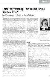 fetal programming – ein Thema für die sportmedizin? - Deutsche ...